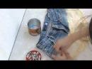 переделка джинс в модные шорты DIY ✂ Como tingir shorts jeans   Degradé ✂ Ombré Shorts
