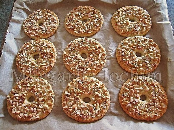 Песочные кольца с орехами Тесто: 250 г сливоч. масла