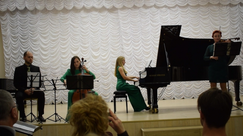 Голубцова Ирина Две фантастические пьесы для флейты, фортепиано, скрипки и виолончели