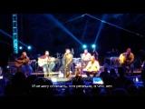 """Аарон Льюис и Салли Эрна в память о Честере -  Linkin Park """"Crawling"""" (Русские субтитры)"""