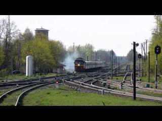 ТЭП70-0234 с поездом Рига - Москва, отправление со ст. Крустпилс