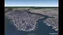 New York USA Itinéraire de visite touristique et culturelle par vue aérienne de la ville en 3D
