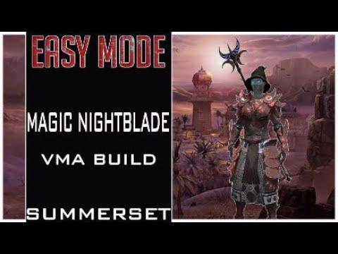 Magic Nightblade (Easy Mode) Veteran Maelstrom Arena Build Pve Dps VMA, Summerset