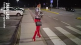 DANA LABO boots my passion - girl walk in red leggings and high heels