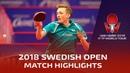Dimitrij Ovtcharov vs Liam Pitchford I 2018 ITTF Swedish Open Highlights (R32)