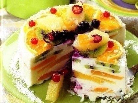 Творожный торт «Волшебный» Ингредиенты: 700 г творога 1