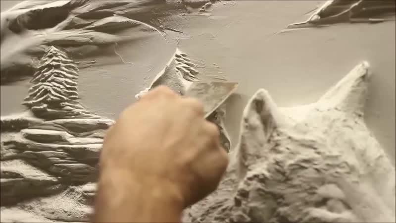 Барельеф из шпаклевки