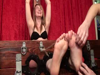 Penny feet and upperbody tickled 1