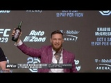 Conor McGregor rips shot with Dana White at UFC 229 Press Conference