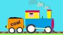 Trains for Children | Let's Build...a Steam Train | Toddler Fun Learning