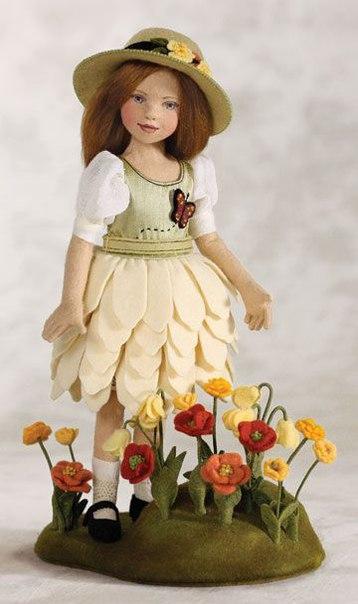 Изумительные войлочные куклы от Maggie Iacono dolls...