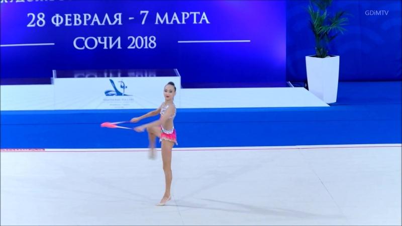 Александра Скубова булавы (вне конкурса) Чемпионат России 2018