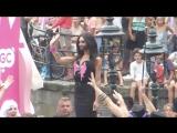 Conchita Wurst on Gay Pride Canal Parade Amsterdam 2-8-2014