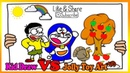 Doraemon Nobita Eat Apple Coloring Pages | Painting and Drawing For Kids Vs Jolly Toy Art ☆ 242