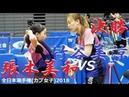 Miwa Harimoto 張本美和 vs Misuzu Takeya 竹谷美涼   カブ女子 決勝   全日本選手権2018