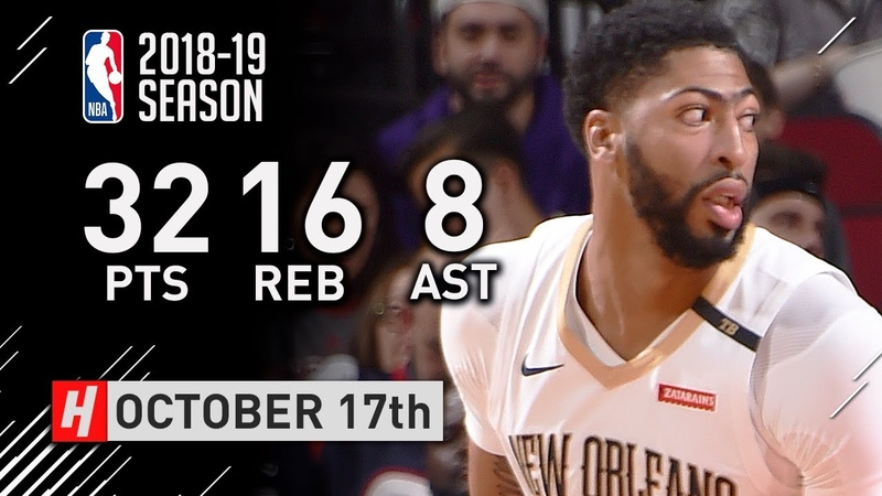 Anthony Davis Full Highlights Pelicans vs Rockets 2018.10.17 - 32 Pts, 16 Reb, 8 Ast, BEAST