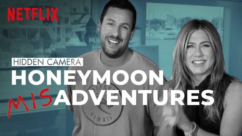 Adam Sandler and Jennifer Aniston Help Husband Prank His Wife on a Hidden Camera Honeymoon | Netflix