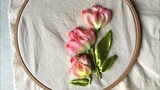 D.I.Y Ribbon Embroidery Tulips H