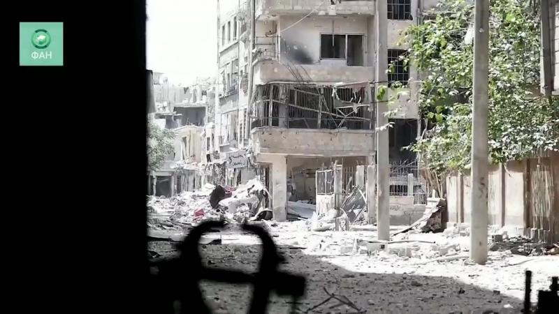 Боец палестинского отряда «Лива аль-Кудс» в районе Хаджар Аль-Асвад сказал: «Только одни русские не побоялись и встали на защиту