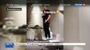 Новости на Россия 24 • Слуцкий спел Катюшу в банан вместо микрофона