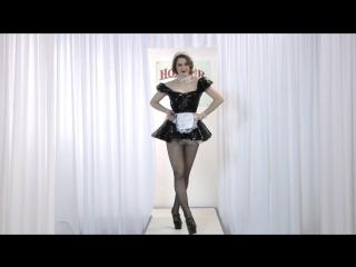 Honour PVC Maids Dress on Esme