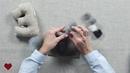 «Милый мышонок» МК Ольги Бычковой. Сухое валяние