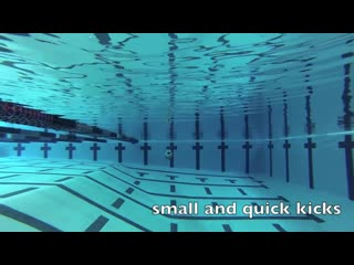 Swimming - underwater backstroke dolphin kicks