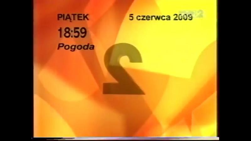 Программа передач и конец эфира (TVP2 [Польша], 04.06.2009)