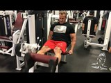 Jay trains legs in Las Vegas before his trip to Australia