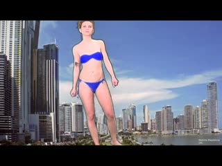Giantess attack city and vore