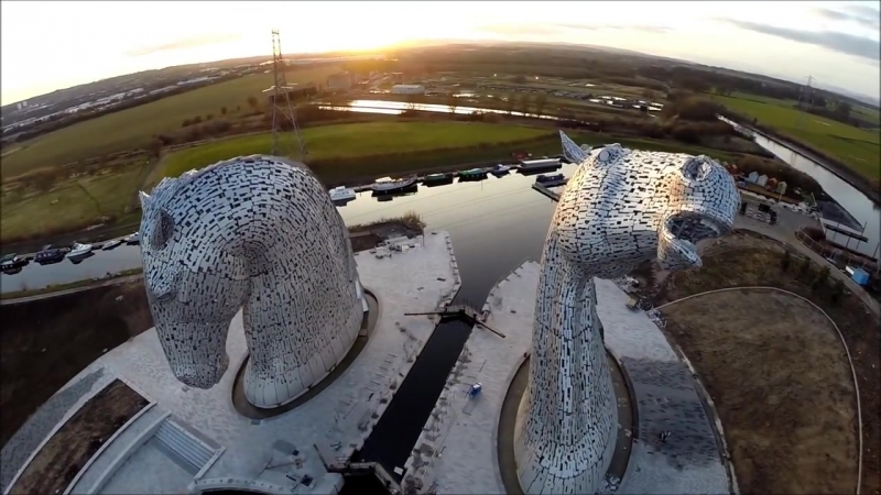 The Kelpies on a Spring Evening