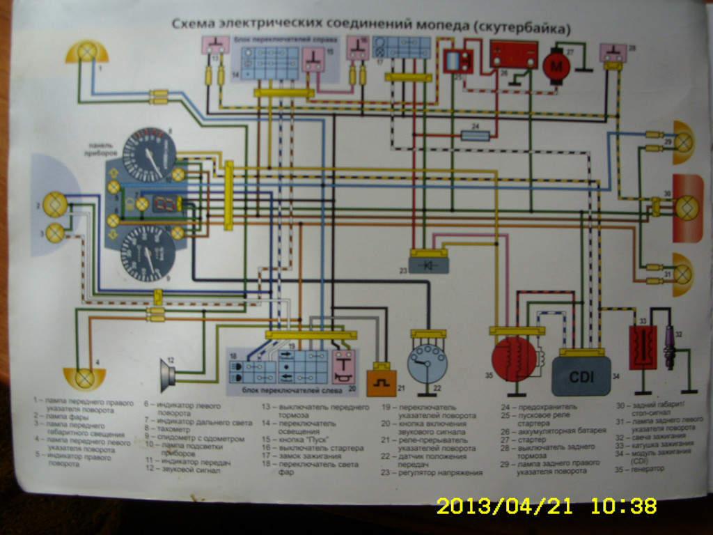 Электросхема на кануни