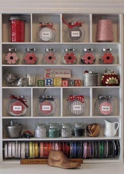 Идеи хранения материалов для творчества