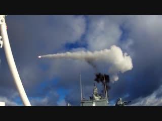 Зенитные ракетные стрельбы фрегата «Адмирал Горшков» в Баренцевом море