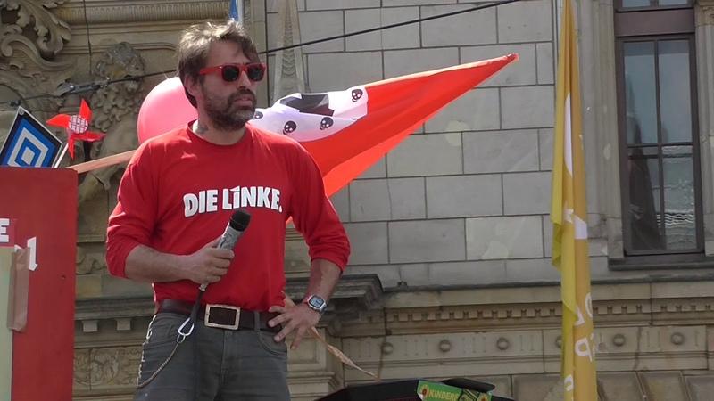 Begrüßung von Gregor Gysi (Die Linke) in Halle - Sven Liebich-Demo, 24.5.2019, Teil 1