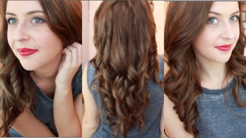 How To Curl Your Hair With A Straightener   spreadinsunshine15