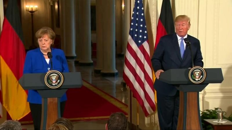 """Trump zu Merkel """"Wir kriegen Euch schon noch"""