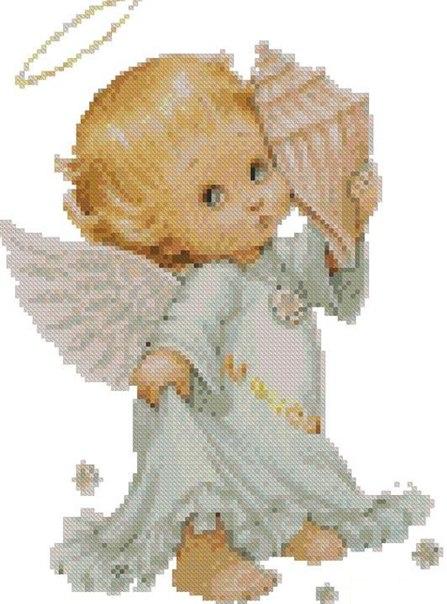 схема вышивка ангел крестиком