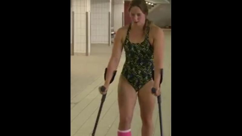 Wendy van der Zanden (Dutch swimmer) - SLC crutches