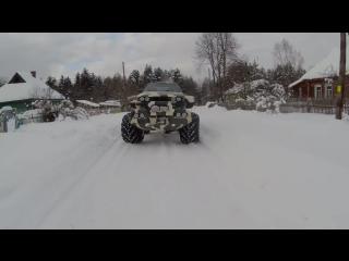 BMW X7 750 E32 Биг-Фут Валькирия ! Снег и сугробы