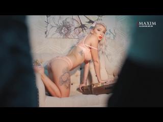 Настя Ивлеева голая в фотосессии журнала Maxim Россия (2018) 1080p