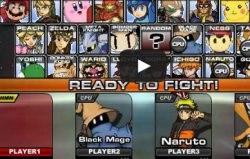 Игра Naruto vs Соник, Блич, Марио и другие!