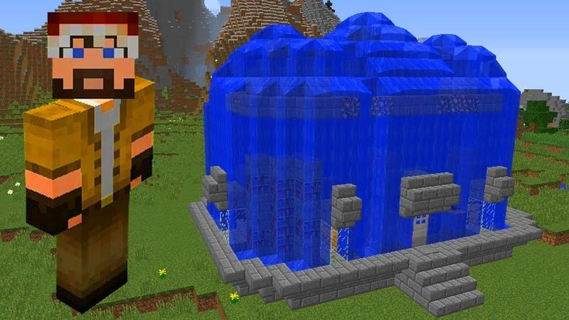 Minecraft ПРО построил защищенный ДОМ ВОДА VS НУБА / 1