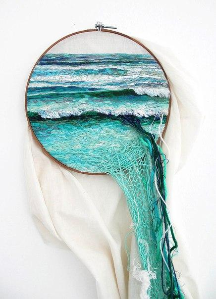 """3D вышивка """"Пейзажи"""" Автор Ana Teresa Barboza"""