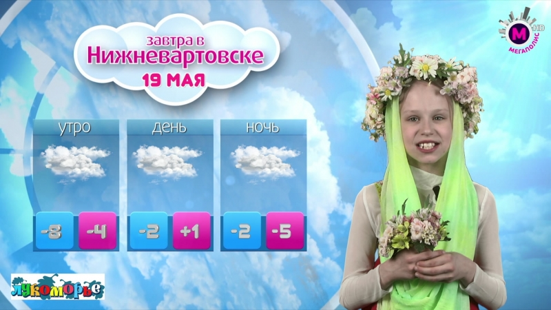 Прогноз погоды мегаKIDS на 19 мая Гридчина Полина