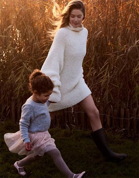 Дочь Даутцен Крез и Саннери Джеймса - Миллена Модель Victorias Secret Даутцен Крез и диджей Саннери Джеймс вместе с 2009 года. Их свадьба состоялась в Амстердаме в ноябре 2010-го, а вскоре на