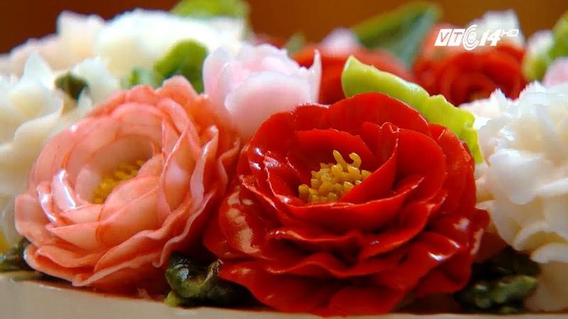 VTC14 | Cách làm và trang trí bánh kem bằng những bông hoa sống động