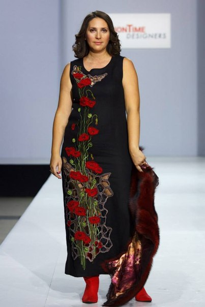 вязаные платья для полных женщин крючком фото