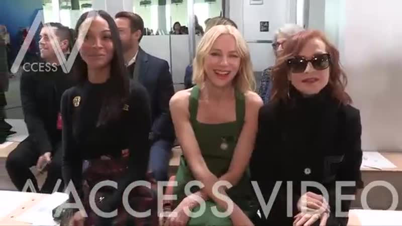 Isabelle Huppert Naomi Watts and more front row for the Tory Burch Fashion Show in NYC
