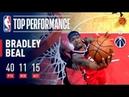Bradley Beal's 40 Point Triple Double Leads Wizards In Triple Overtime December 22 2018